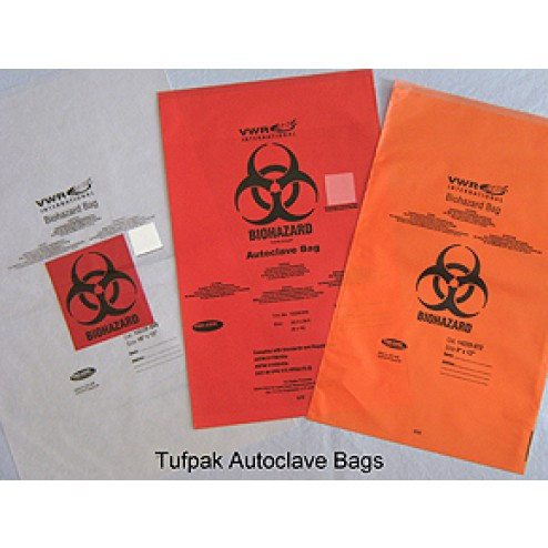 Secura'T Autoclave Bags NONhazardous Waste Clear Autoclave Bags (No Print), (24 x 30) Inches