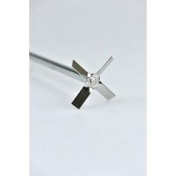 Cross stirrer, 316L stainless steel