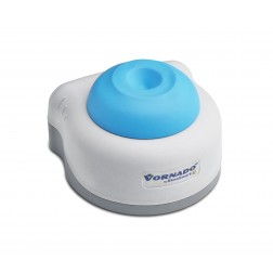 Vornado miniature vortex mixer with blue cup head, 100 to 240V with European 2 prong ADAPTER