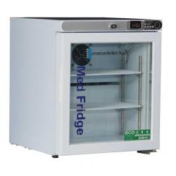 1.0 Cu. Ft. Premier Glass Door Refrigerator (Freestanding); Left Hinged