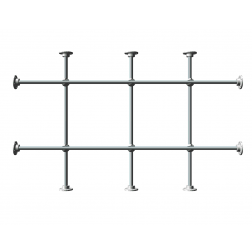4 Foot Stainless Steel Side, Top & Bottom Lab-Frame Kit.