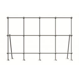 4 foot Stainless Steel Table Top Mount Lab-Frame Kit.