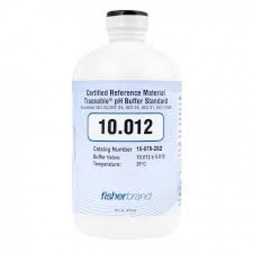 Fisher Scientific pH4 Buffer Solution - 16 oz - Traceable ISO Guide 34 Color-Coded CRM pH Buffers