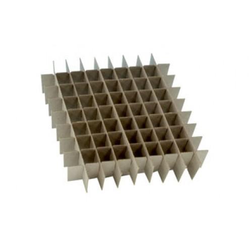 Freezer box divider, 64 hole 12/pk
