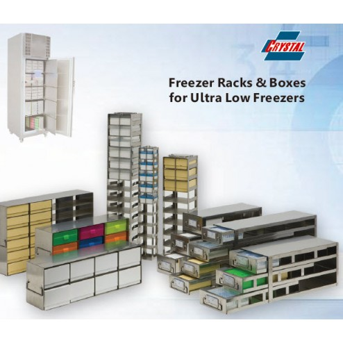 Rack with 2 Drawers for 6 Standard 2in. Cardboard Boxes&Drawer for Storage Bottles, Box Capacity 6