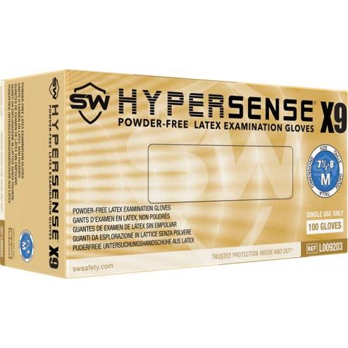 SW Hypersense X9, Latex Exam Glove, S, PK100, CS1M