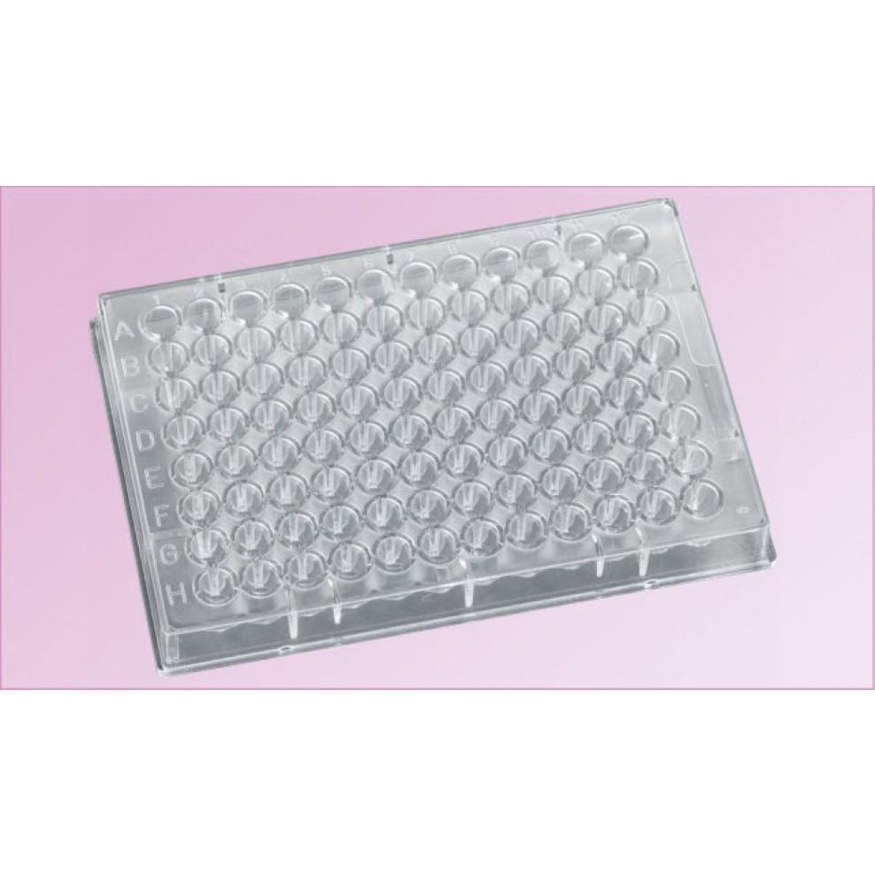 96 Well Microplate Polystyrene Clear V Bottom 150uL Working Volume 200uL Max Vol PK 100