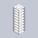 Chest Freezer Tube Rack, Box Capacity 9, EA1