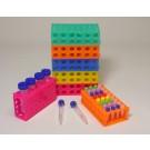 Rack, 4 way, 4x50, 12x15, 32x1.5/0.5ml, Rainbow Pack, PK5