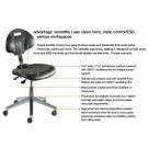 UniqueU Desk Height Chair, Blue Vinyl
