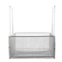 Mesh Basket with Handles 18inL x 18inW x 9inH