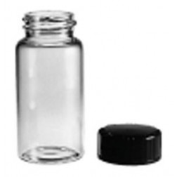 Glass vial, 19x65mm, 15-425thread, w/Cap, PK144
