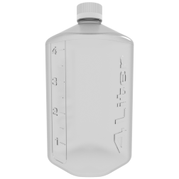 Boston Square Bottle, 4L, CP, 45mm Cap EA 1