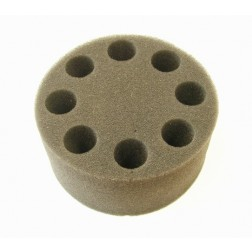 SCILOGEX Foam Tube Insert for 8 test tubes Ø20mm, for use with Universal Adapter