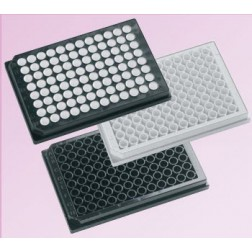 96 well microplate 350uL Polystyrene, Black , PK/100