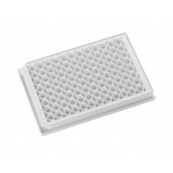 96 well microplate 350uL White, Clear Bottom Tissue Culture Treated. With Lid. Individually packed