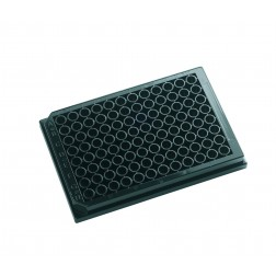 96 well microplate 350uL Black, Clear Bottom Tissue Culture Treated. With Lid. Individually packed