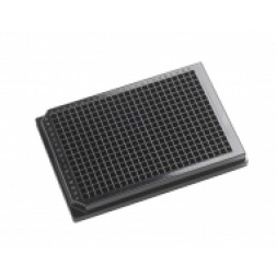 384-well microplate 120uL Polystyrene, Black, PK /100