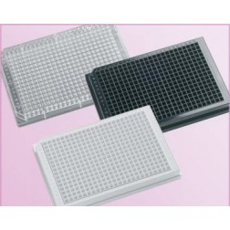 384-well microplate 120uL Polystyrene, Black, Tissue Culture Treated,With Lid. Individually packed