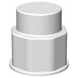 VersaBarb, Spigot Fitting, 1 1/8 Thread, Closed Cap EA1