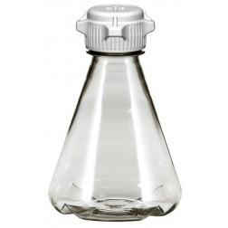 Flask, 1L, PC, 53B Cap, Baffle, Sterile, Vented PK 6