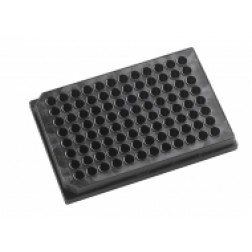 96 well microplate 350uL Black, Tissue Culture Treated. With Lid.Individually packed, PK/100