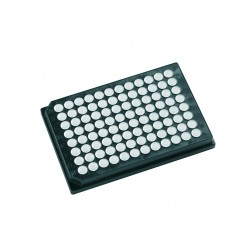 96 well microplate 350uL Black with White well microplates, PK/100