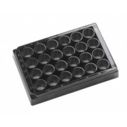 24-well microplate Black. With Lid Individually packed, PK /10