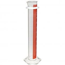 PYREX Single Metric Scale Graduated Cylinder, 100 ML, Lifetime Red, TC