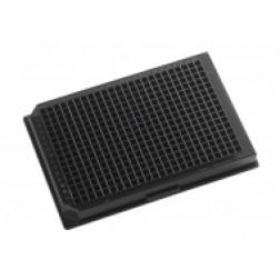384-well microplate clear bottom microplate Black, PK/100