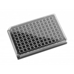 96-well microplate Black. With Lid Individually packed. Sterile, PK /10