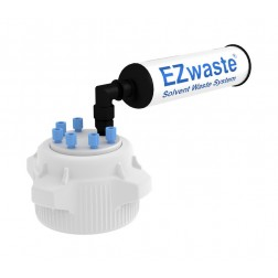 EZwaste Safety Vent with VersaCap 83B, 6 Ports for 1/8'' OD Tubing, and a Chemical Exhaust Filter