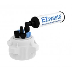 EZwaste System, 83mm Cap, 4x 1/16in, 3x 1/4in OD Tubing, 1 HB & Filter EA1