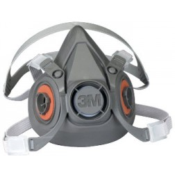 3M 6300 Half Facepiece Reusable Respirator 6000 Series, Size Large, EA