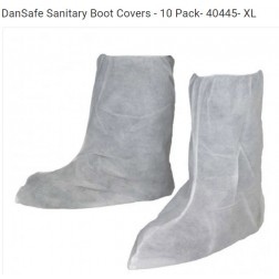 DanSafe Sanitary Boot Covers - 10 Pack