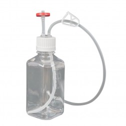 EZBio Single Use Assembly, Media Bottle, 500mL, PETG, Vented with Tubing, Sterilized,10cs CS10