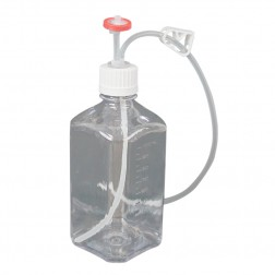 EZBio Single Use Assembly, Media Bottle, 1000mL, PETG, Vented with Tubing, Sterilized,10cs CS10