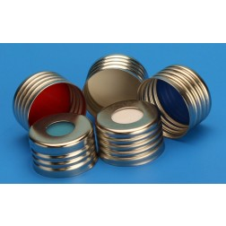 18mm Silver Magnetic (Metal) Closure with Translucent Blue 0.125in. PTFE/Silicone Liner, CS100