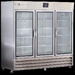 72 Cu. Ft.  Stainless Steel Refrig. Glass Door