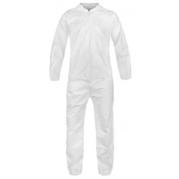 Polyproplylene Disposable Coverall Suit with Elastic Wrists and Ankles: Size Medium, PK25