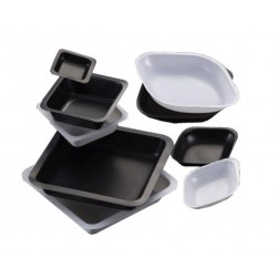 Weigh Boat, black, 5ml, 35 x 55mm, diamond shaped, CS15000