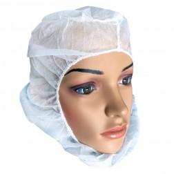 Hood, White 17 Gsm Poly Pro Hood, 100Pcs/Bag, 1000Pcs/Cs, CS/1000
