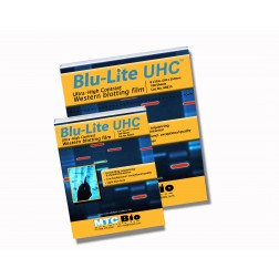 Blu-Lite UHC Autoradiography film, 8x10in, 100 sheets/box, CS500