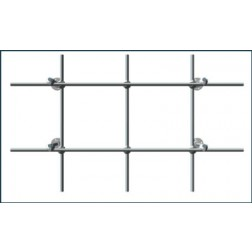 6 foot Back Mount Stainless Steel Lab-Frame Kit.