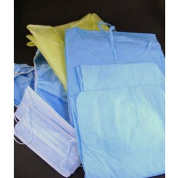 Isolation Gown,Yellow, Universal, 50/CS