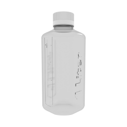 Boston Square Bottle, 1L, CP, 45mm Cap