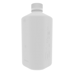 Boston Square Bottle, 2L, HDPE, 45mm Cap