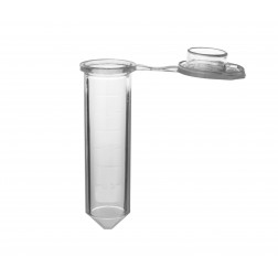 Microtube w/ cap, 2.0ml, clear, sterile, w/ self-standing bag & Stop-Pops , CS5000
