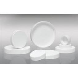 89-400 White Ribbed PP Cap with SureSeal PE Foam Liner, CS624