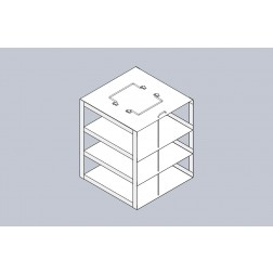 Rack only, Box Capacity 3, EA1